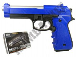 M92F Airsoft BB Hand Gun Black and Blue